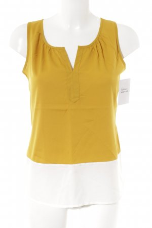 Banana Republic A-Linien Top weiß-goldorange Colourblocking Business-Look