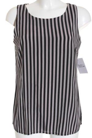 Banana Republic ärmellose Bluse schwarz-grau Streifenmuster Casual-Look