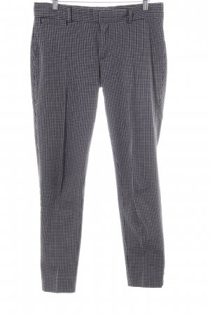 Banana Republic Pleated Trousers black-white check pattern casual look