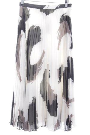 Banana Republic Plooirok wolwit-zwart kleurvlekken patroon elegant