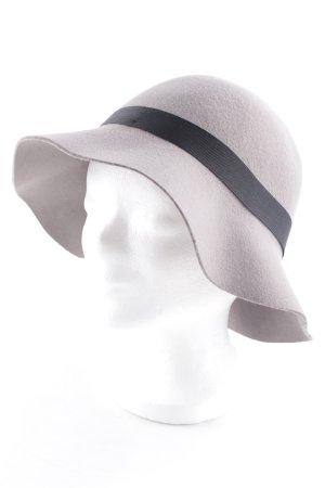 Banana Republic Sombrero de fieltro negro-marrón grisáceo estilo extravagante