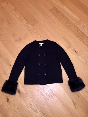 Banana Republic Gr. S Strickjacke mit Fell