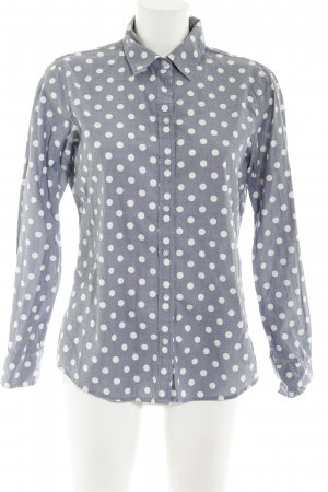 Banana Republic Shirt Blouse pale blue-white spot pattern business style