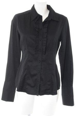 Banana Republic Blusa-camisa negro estilo sencillo