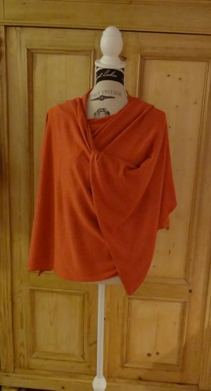Banana Republic Knitted Poncho orange silk