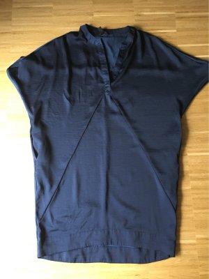 Banana Republic Vestido de manga corta azul oscuro