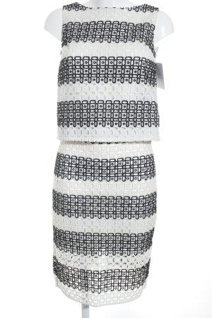 Banana Republic Traje para mujer negro-crema modelo de punto flojo elegante