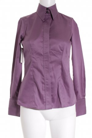 Banana Republic Langarm-Bluse dunkelviolett Business-Look
