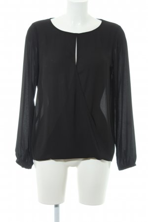Banana Republic Blusa de manga larga negro estilo «business»