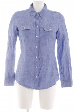 Banana Republic Long Sleeve Shirt blue weave pattern business style