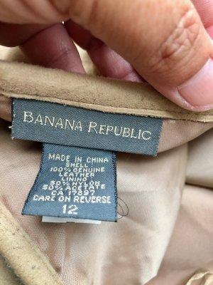 Banana Republic Gonna in pelle beige