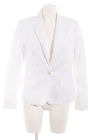 Banana Republic Lange blazer wit klassieke stijl