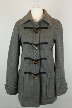 Banana Republic Mantel Coat Wollmantel Kurzmantel Gr. XS grau Knebelverschluss