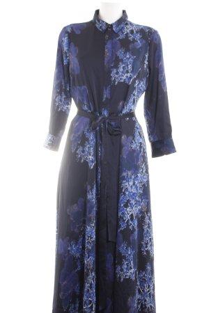 Banana Republic Maxi Dress blue flower pattern casual look