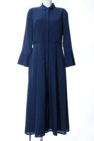 Banana Republic Robe longue noir-bleu motif rayé style décontracté