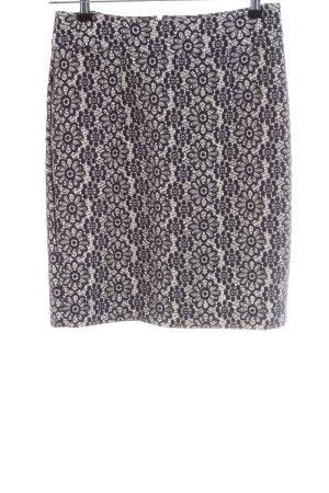 Banana Republic Midi Skirt blue-white allover print business style