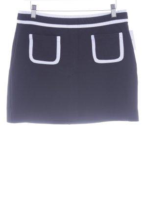 Banana Republic Minifalda negro-blanco estilo sencillo