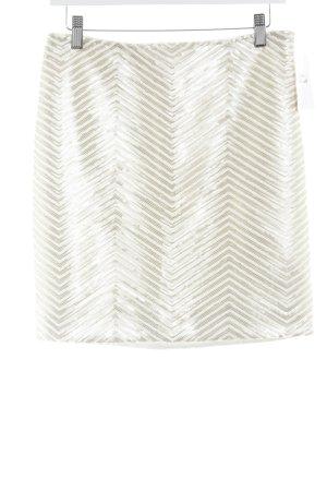 Banana Republic Minifalda blanco-color oro estampado a rayas elegante