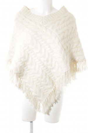 Banana Republic Poncho natural white cable stitch casual look