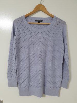 Banana Republic Crochet Sweater purple-blue violet