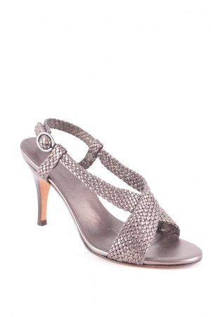 Banana Republic Strapped High-Heeled Sandals grey brown-silver-colored elegant
