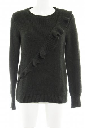 Banana Republic Crewneck Sweater dark green-forest green flecked casual look