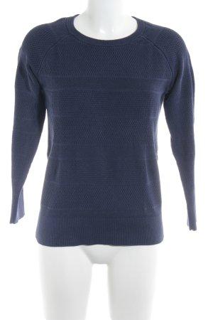Banana Republic Kraagloze sweater grijs-paars Webpatroon casual uitstraling