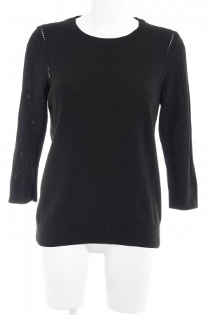 Banana Republic Crewneck Sweater black loosely knitted pattern casual look