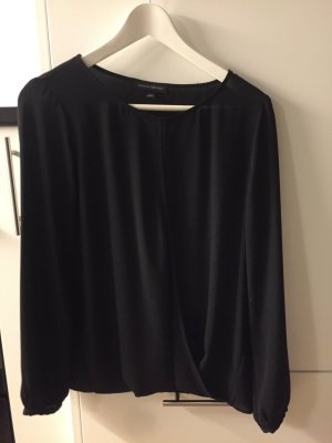 Banana Republic Blusa collo a cravatta nero Cotone