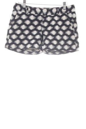 Banana Republic Shorts schwarz-weiß Farbtupfermuster Casual-Look
