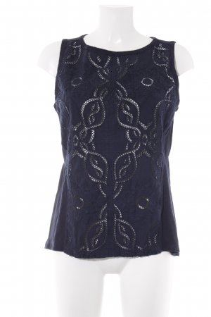 Banana Republic Lace Top dark blue abstract pattern casual look