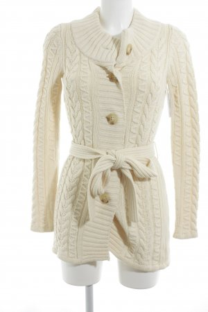 Banana Republic Strick Cardigan creme Zopfmuster Casual-Look