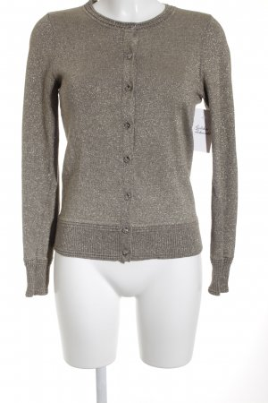 Banana Republic Strick Cardigan goldfarben Glitzer-Optik