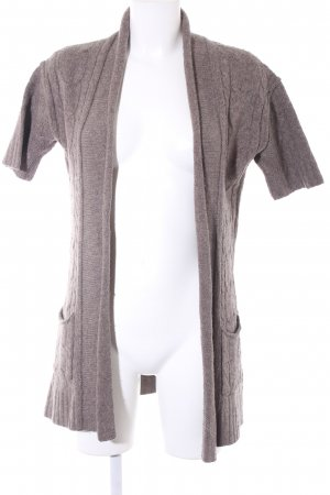 Banana Republic Strick Cardigan graubraun Zopfmuster Casual-Look