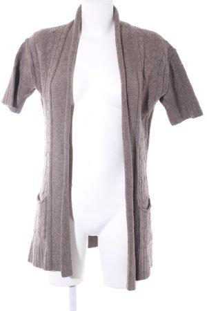 Banana Republic Cardigan in maglia marrone-grigio punto treccia stile casual