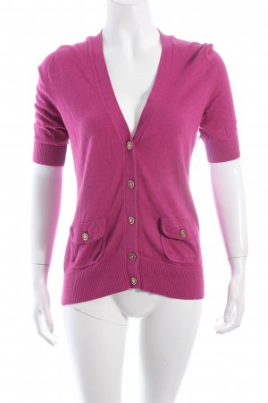 Banana Republic Strickjacke violett Casual-Look