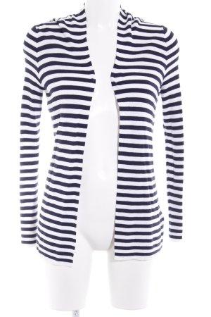 Banana Republic Veste en tricot blanc-bleu foncé motif rayé