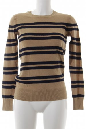 Banana Republic Knitted Sweater black-light brown striped pattern casual look