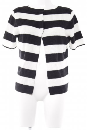 Banana Republic Knitted Sweater black-white striped pattern casual look