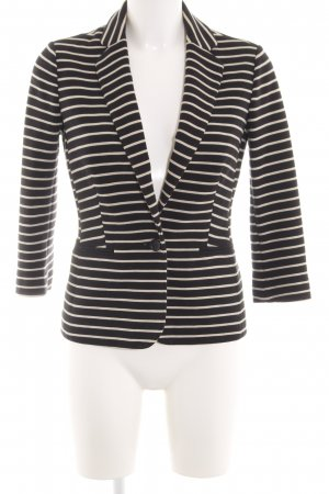 Banana Republic Sweat Blazer black-natural white striped pattern business style