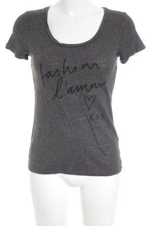 Banana Republic T-Shirt dunkelgrau-schwarz meliert sportlicher Stil