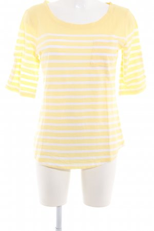 Banana Republic T-Shirt weiß-hellgelb Ringelmuster Casual-Look