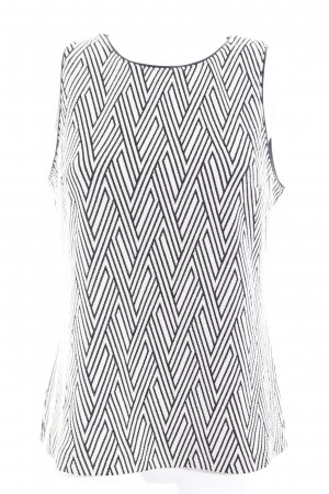 Banana Republic Strappy Top black-white Aztec pattern casual look