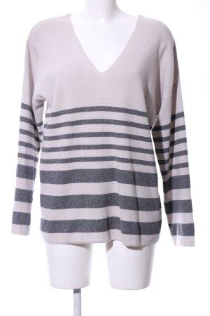 Banana Republic V-Neck Sweater natural white-light grey flecked business style