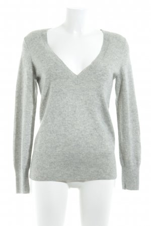 Banana Republic V-Neck Sweater light grey flecked casual look