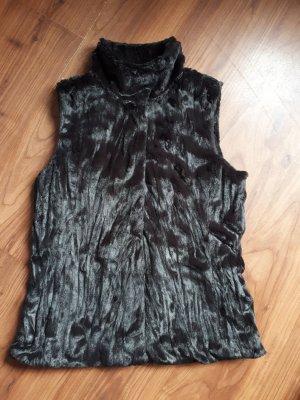 Banana Republic Fake Fur Vest dark brown