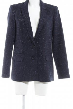 Banana Republic Woll-Blazer dunkelblau Punktemuster Business-Look