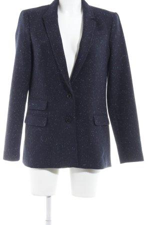 Banana Republic Wool Blazer dark blue spot pattern business style