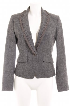 Banana Republic Wool Blazer black-white herringbone pattern business style
