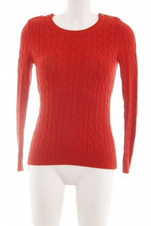 Banana Republic Cable Sweater red cable stitch casual look